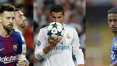 Ronaldo, Messi, Neymar vào top ba giải 'The Best'